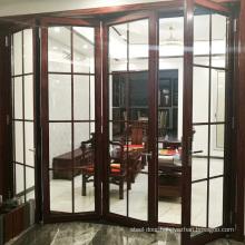 Aluminium Double Glass Sliding Folding Door for Entrance