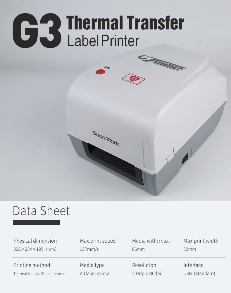 Thermal Label Printer with auto cutter