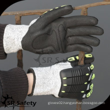SRSAFETY cut resistant impact absorb mechanic hand protection work glove