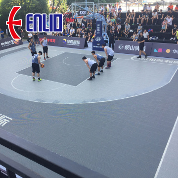 Enlio Outdoor Basketball Flooring 3X3 FIBA-certificering