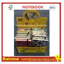 A6 Mini Notebook em caixa de exibição