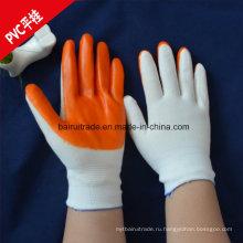 ПВХ резиновые перчатки Ближнего перчатки из ПВХ перчатки трикотажные с прицепом