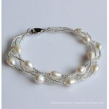 Fashion Cultured Freshwater Pearl Bracelet (EB1537-1)