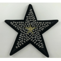 Złoty metaliczny wątku Star Beaded Iron On Patch