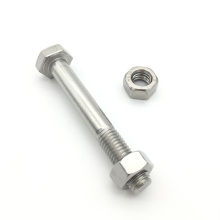 GH 4169 stainless steel full thread hex bolt