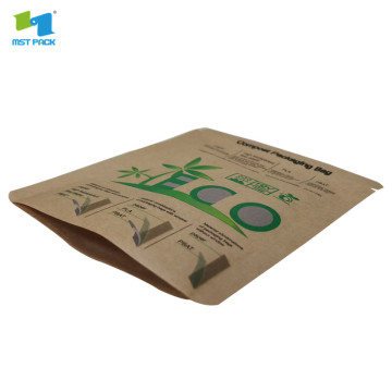 100% beg jagung pati jagung biodegradable 3 side seal carrier