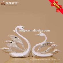 high quality lifelike design wedding souvenir swan ornament