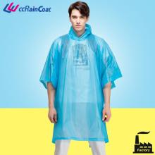 Reusable fashion women rain coat private brand