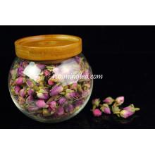Top quality Borosilicate glass jar with wood lid