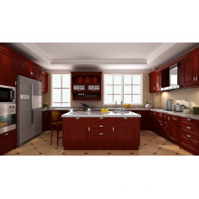 Beach Haven Raised (Bright White) Solid Wood Kitchen Cabinets