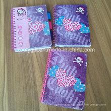 Печать жесткой мягкой обложки Spiral A5 Exercise Notebooks Dividers