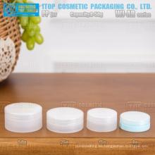 WJ-AR serie 8g 15g 25g y 50g caliente-venta rentable superficie hermosa plana redonda de envase de plástico de pp