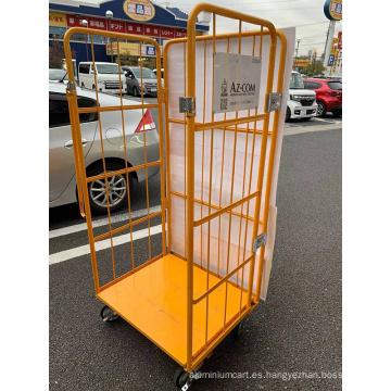 Carro de carro de jaula de almacén logístico