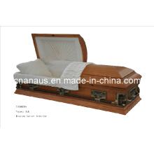 American Style Veneer Oak Casket (V5050006)