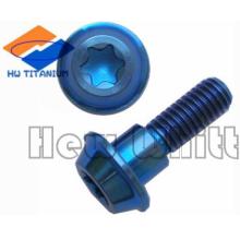 Gr5 nitriding titanium flat head bolt