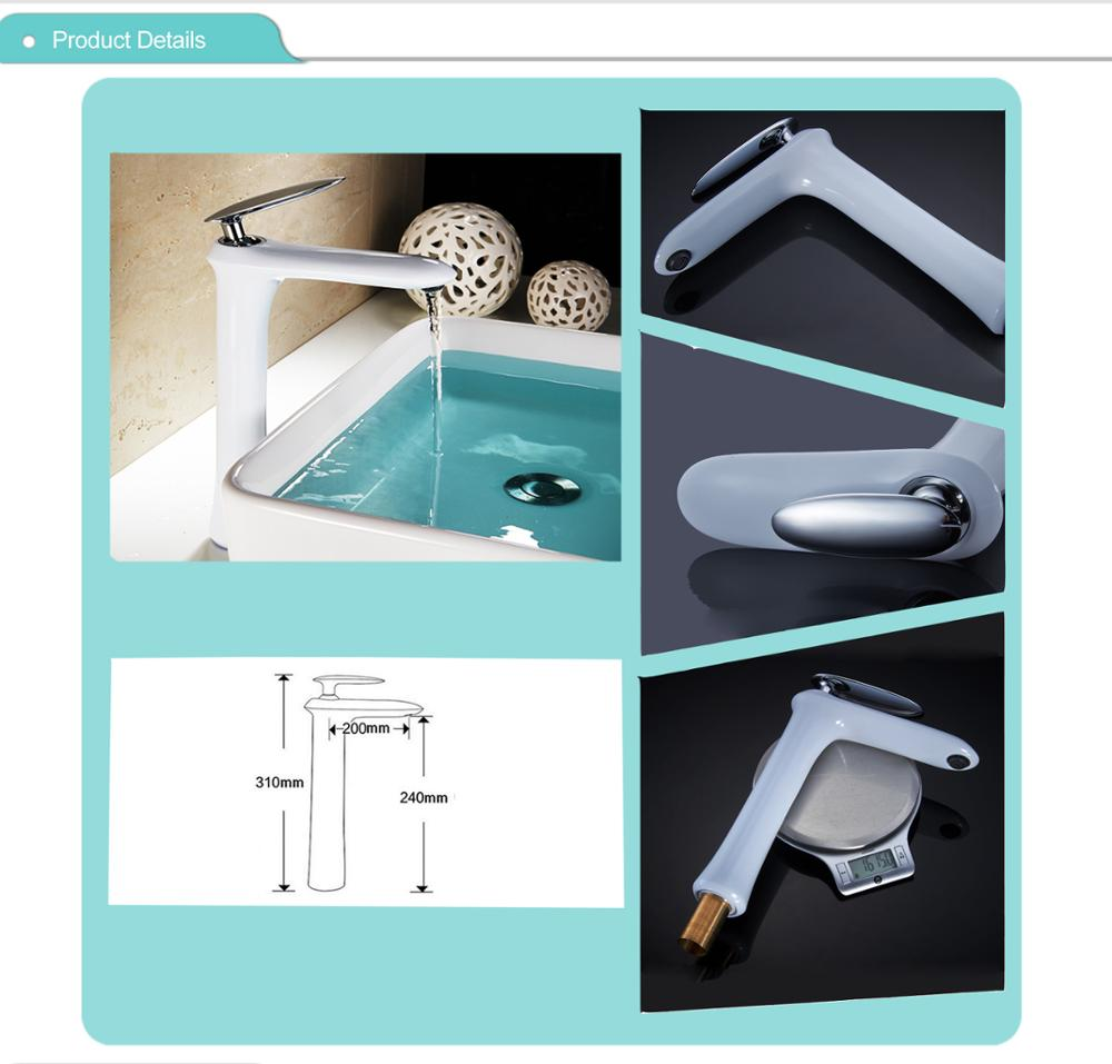 A1038 new design with white plating chrome plating for basin faucet , cold & hot water basin faucet