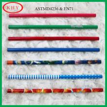 Mini круглые деревянные цветной карандаш с фантазии изображения