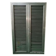 Large aluminium powder coated bathroom louver door