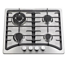Cuisinière à gaz encastrable en fonte avec 4 brûleurs