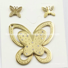 Top Selling Fashion Stainless Steel Butterfly Set Jewelry