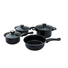 Home Basics Cooking 7 pedaço de aço carbono Cookware Set