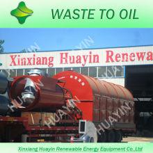 XinXiang HuaYin 3/5/10 toneladas de residuos / neumáticos usados planta de pirólisis de plástico con 30 técnicos con experiencia