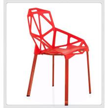 Todo el precio de fábrica de plástico alibaba plástico rojo ocio sillas de comedor al aire libre