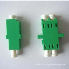 LC / APC-LC / APC Adaptador de fibra óptica dúplex de un solo modo