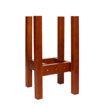 Wholesale indoor outdoor mid century wooden plant holder adjustable plant stand tall plant pot stand