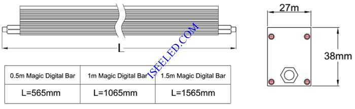 Magic LED Bar Light dimension