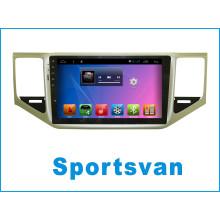 Sistema Android Navegação GPS para Sportsvan com leitor de DVD de carro