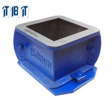 Moldes de cubos de fundición de una sola pieza de 100 mm 150 mm para la prueba de compresión