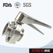 Stainless Steel Handle Clamped Food Equipment Butterfly Valve (JN-BV2002)