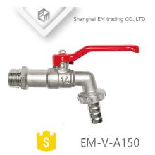 EM-V-A150 Steel Lever Handled Nickel plated Brass Ball Bibcock