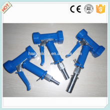 Blue cover stainless steel wash down gun with hose tail