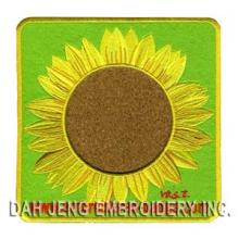 Sun Flower Embroidered Coaster