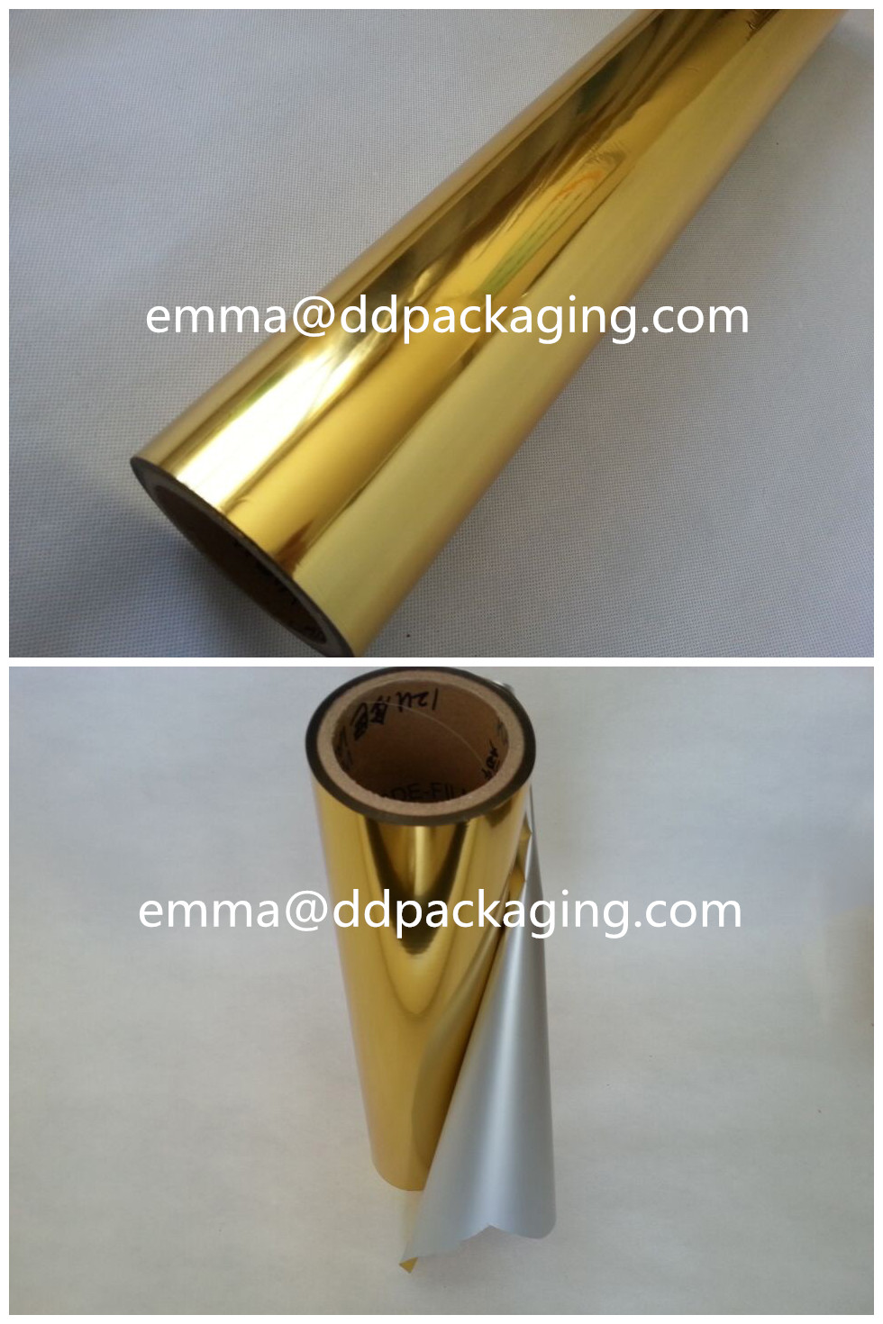 Gold metallized PET film