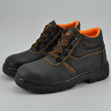 Iron to Rubber Sole Leather Work Safety Shoes