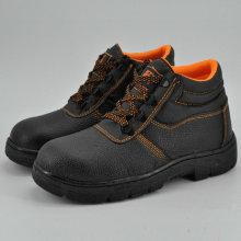 Ferro de borracha exclusivo de couro sapatas de segurança de trabalho