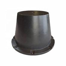 Guardabarros de cono de goma duradero de 1600 mm con cadena y panel