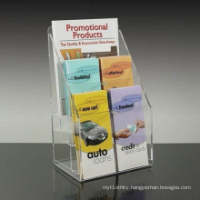 Promotional Acrylic Brochure Holders, Perspex Leaflet Display Stands