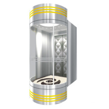 Safe 630kg Panoramic Elevator with Machine Roomless