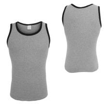 Compression Gray Men Shirt Camisolas de alças de alto desempenho