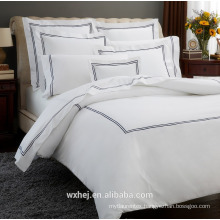 High quality White 100% Cotton Embroidered Design Duvet Cover sets