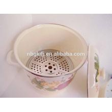 эмалированная посуда горшок оптовая & эмаль пароварка кастрюли