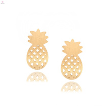 Delicate Gold Plated Polish Fruit Stud Pineapple Earrings