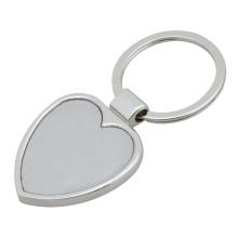 Anel chave da forma do coração, corrente chave em branco feita sob encomenda (GZHY-KA-013)