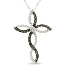 Joyería de la manera 925 joyería cruzada de plata de la joyería del collar CZ de los colgantes
