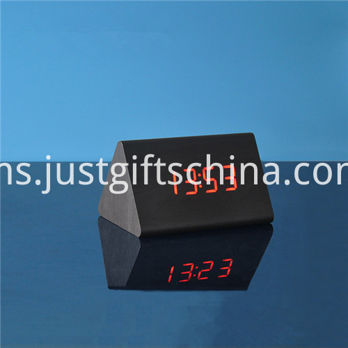 Promotional LED Wooden Table Clock 4