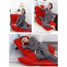 Réglable repoussent l'eau salon sans jambes facile transportant le canapé de style lit pliant confortable
